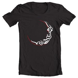 تی شرت محرم با طرح یا قمر بنی هاشم