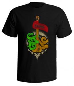 تی شرت محرم با طرح علمدار وحدت