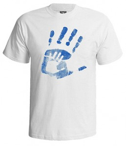 تی شرت پدر طرح daddy & me handprint