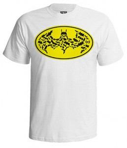 تی شرت بتمن طرح batman yellow logo