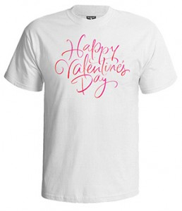تی شرت ولنتاین طرح happy valentine day