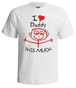 تی شرت روز پدر طرح i love daddy