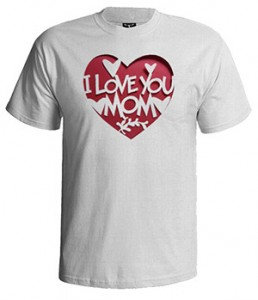 تی شرت روز مادر طرح i love you mom