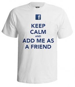 تی شرت فیس بوک طرح keep calm facebook