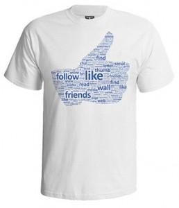 تی شرت فیس بوک طرح like typography