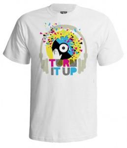 تی شرت dance طرح turn it up