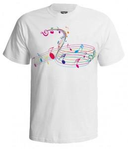 تی شرت اکولایزر دار طرح rainbow