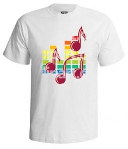 تی شرت اکولایزر دار طرح music notes