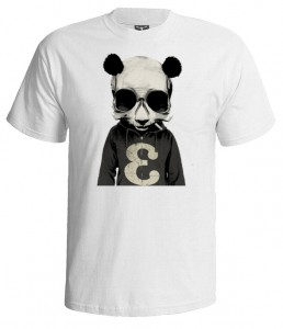 تی شرت طرح دنس black and white panda