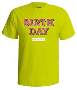تی شرت روز تولد طرح stroke design