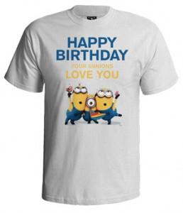تی شرت روز تولد minion happy birthday