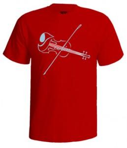 تی شرت ابزار موسیقی the violin with strings