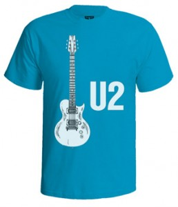 تی شرت یوتو طرح u2 guitar