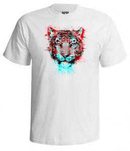 تی شرت سه بعدی طرح ۳d tiger