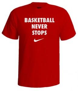 تی شرت بسکتبال never stops