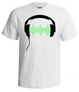 تی شرت دی جی طرح dj headphone