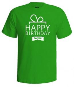 تی شرت روز تولد طرح lettering greeting