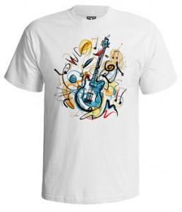 تی شرت ابزار موسیقی طرح guitar