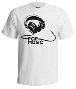 تی شرت پاپ طرح pop musique
