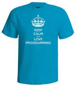 تی شرت برنامه نویس keep calm programmer