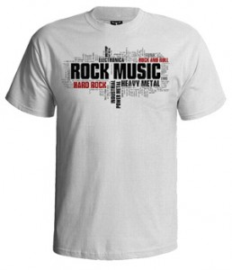 تی شرت راک طرح rock typography