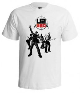 تی شرت u2 طرح ۳۶۰ tour