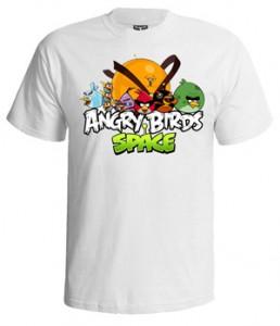 تی شرت انگری برد طرح angry birds space