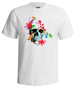 تی شرت سه بعدی طرح ۳d skull