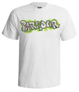 تی شرت پارکور طرح parkour graffiti