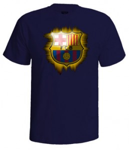 تی شرت بارسلونا طرح لوگو