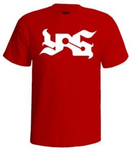 تی شرت یاس طرح لوگو yas