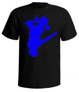 تی شرت پارکور طرح parkour men