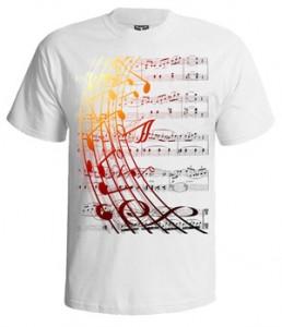 تی شرت ابزار موسیقی طرح note music