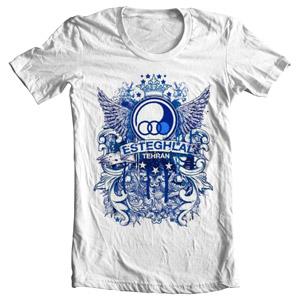 تی شرت استقلال طرح ۳d logo