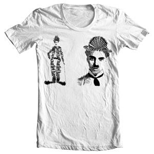 تی شرت تایپوگرافی طرح charlie chaplin