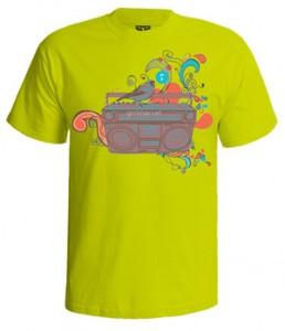 تی شرت ابزار موسیقی طرح radio