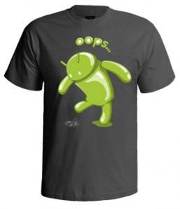 تی شرت اندروید طرح ۳d android