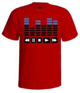 تی شرت اکولایزر طرح equalizer bars