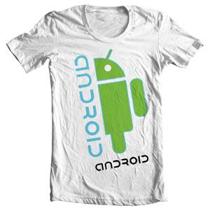 تی شرت اندروید طرح android vitruvian man