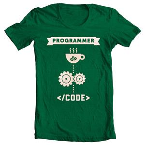 تی شرت برنامه نویس