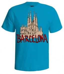 تی شرت بارسلونا طرح barcelona