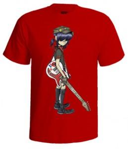 تی شرت پاپ طرح pop music guitar