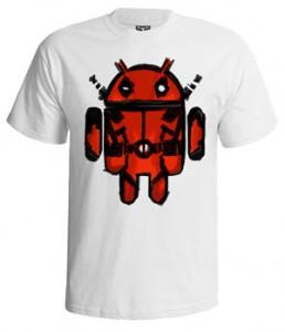 تی شرت اندروید طرح android attack