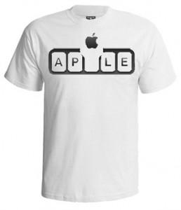 تی شرت apple طرح ap logo