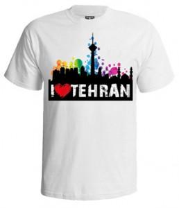 تی شرت تهران ۰۲۱ طرح i love tehran