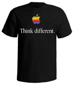 تی شرت طرح اپل think different