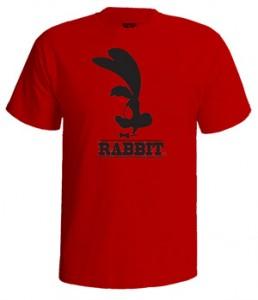 تی شرت گرافیکی طرح rabbit club