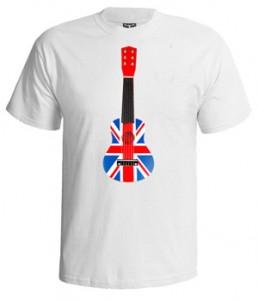 تی شرت گیتار طرح british