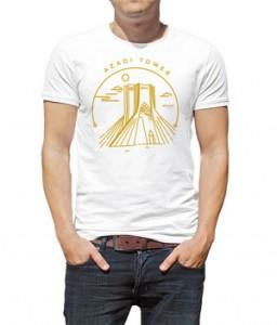 تی شرت تهران ۰۲۱ طرح آزادی