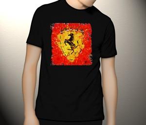 تی شرت فراری طرح red ferrari for christmas